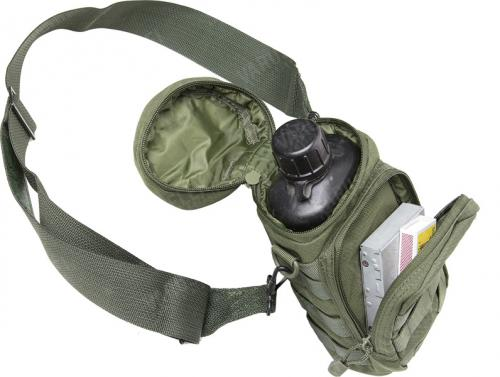 Swiss M84 canteen with metal cup, surplus. Fits most taller and slimmer pouches, including many backpack side pockets. Pictured pouch & stuff not included!
