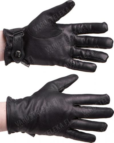 BW-model leather gloves, lined, black