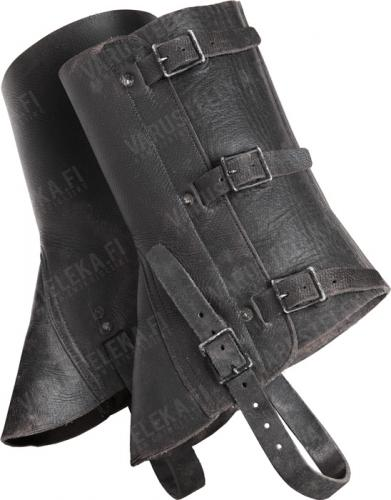 Swiss leather gaiters, used