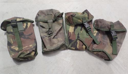Dutch MOLLE Canteen Pouch, DPM Surplus. The condition and camouflage schemes vary.