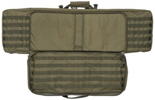 Mil-Tec gun carry bag, big. The smaller compartment has two padded pockets and PALS-webbing inside.