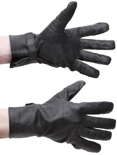 French leather gloves, black, surplus