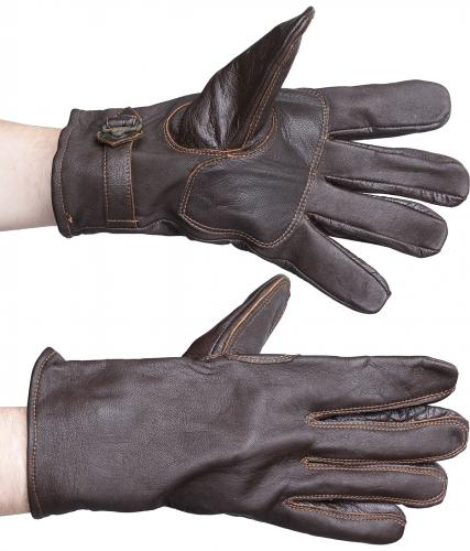 Swedish leather gloves, brown, surplus