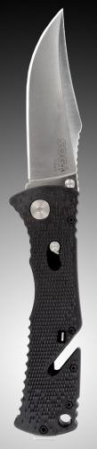 SOG Trident fold blade, straight edge