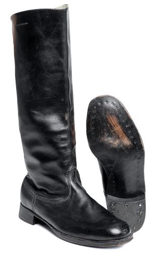 Soviet leather parade boots, unissued