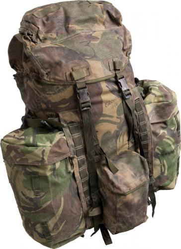 British PLCE rucksack, DPM, surplus, with frame