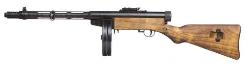 Finnish M/31 Suomi SMG, with muzzle brake, deactivated.