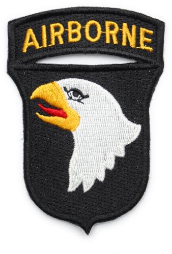 US 101st Ariborne Division sleeve insignia, full colour