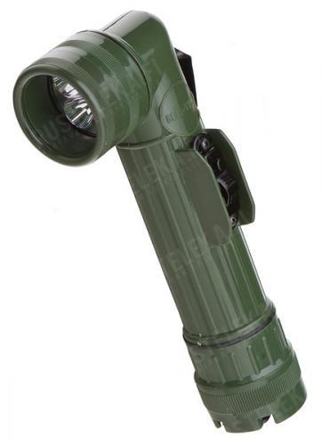 Mil-Tec angle head flashlight, LED, olive drab