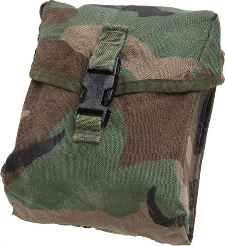 US MOLLE II 200 rnd SAW Gunner pouch, Woodland, surplus