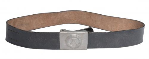 NVA leather belt, black, surplus