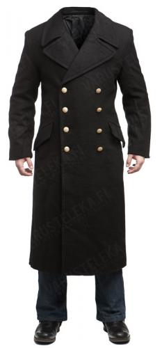 Mil-Tec navy greatcoat, black