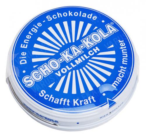 Scho-Ka-Kola, 100 g tin can, wholemilk, BLUE
