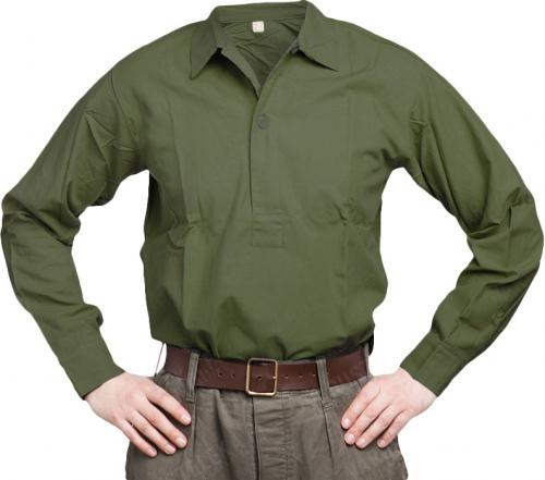 Swedish M59 service shirt, green, surplus