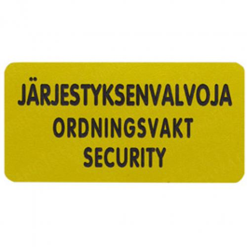 Security personnel tag