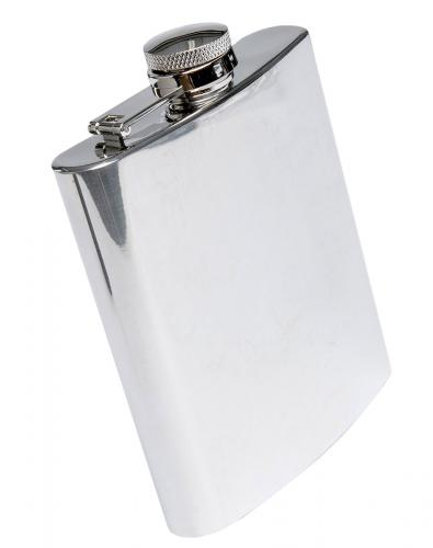 Hip flask, 24 cl (8 oz), stainless steel