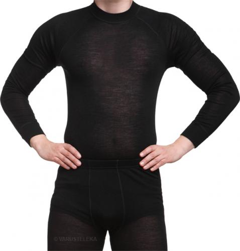 Särmä merino wool long sleeve shirt, black