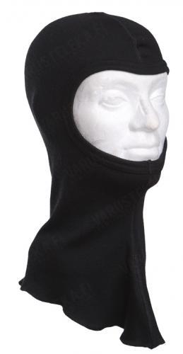Särmä balaclava, 1-hole, merino wool, black