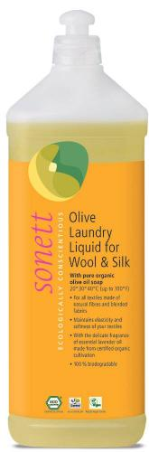 Sonett olive laundry liquid for wool and silk 1 l