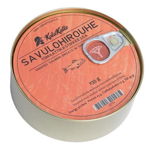 Kalakalle Smoked Salmon groats in tomato sauce, 235 g, canned