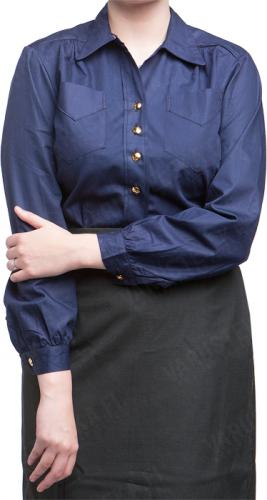 Swedish Women's Collared Shirt, Navy, surplus