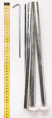Hungarian Tent Stake and Pole Set, Surplus.