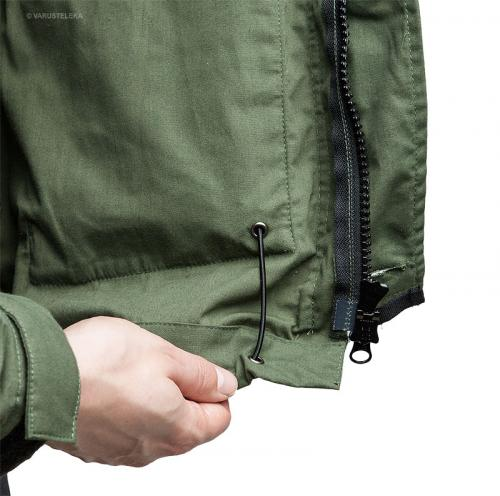 Särmä Windproof Smock. You can pass the elastic cord into the pocket to keep it out of the way