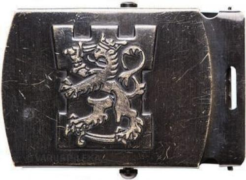 Finnish lion belt buckle, large, surplus