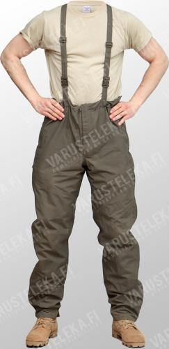 Austrian waterproof trousers, olive drab, surplus