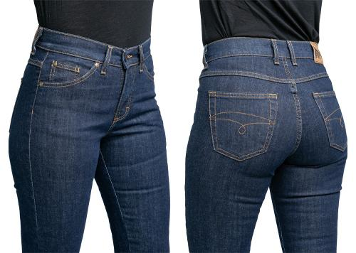 Särmä Ladies Common Jeans, Blue. Fabric weight 326 g/m2, 98,7 % cotton and 1,3 % elastane