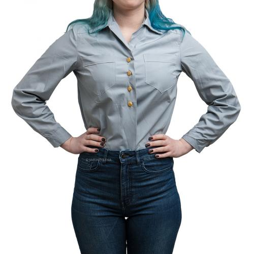Swedish women's collared shirt, light blue, surplus