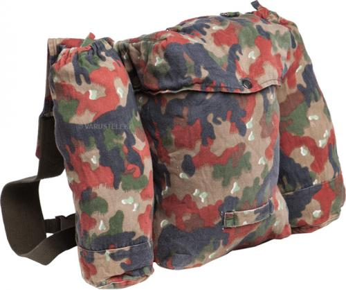 Swiss combat pack, Alpenflage, with BW suspenders, surplus