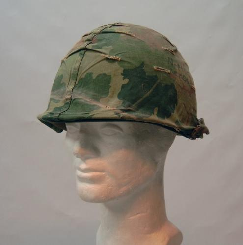 M1 helmet with Mitchell cover