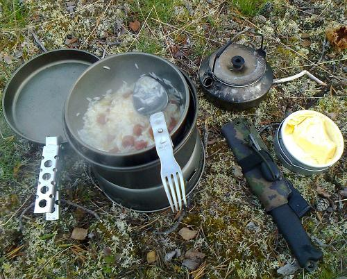 Trangia 25-1HA Stove. The Trangia in action, the pictured model is the 27-1HA.