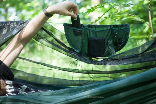 DD Hammock SuperLight Mosquito Net. A hanging pouch for all your small trinkets is included.