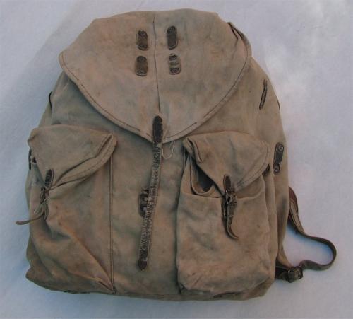 """Finnish """"sipulisäkki"""" backpack, WW2 type #2"""