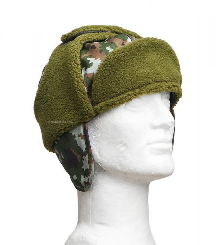Särmä TST M05 Fur Hat. Fold down neck and ear protector with fleece lining.