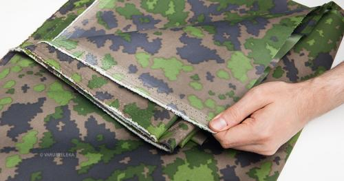 Foxa Action Camo Waterproof Fabric, M05 Woodland, by the meter.