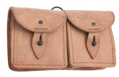 French MAS-49 ammunition pouch, leather, surplus