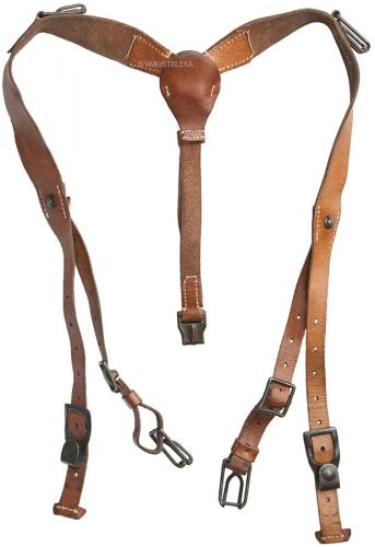Czech Y-straps, leather, surplus