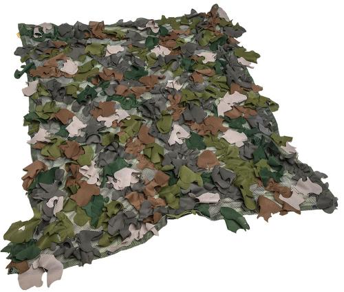 Snigel Design Ghillie Cloak 14. Functions as a small camouflage net when laid out flat.