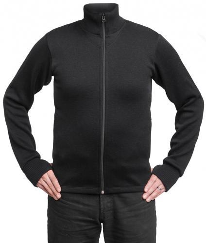 314af6345bf5d5 Särmä Merino Wool Sweater w/ Zip, Black - Varusteleka.com