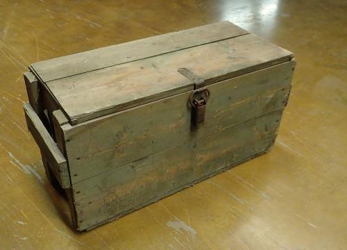Finnish flamethrower crate, surplus