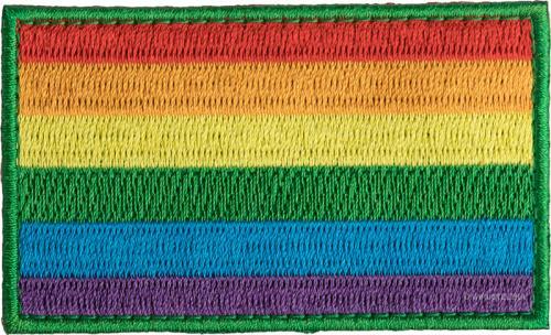 Särmä rainbow flag patch, 77x47 mm