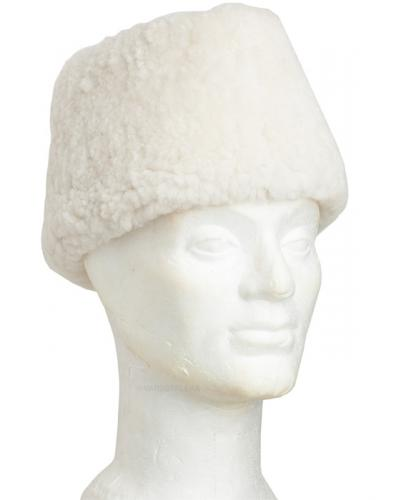 "Finnish fur hat ""Mannerheim"", white, new"