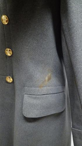 Soviet officer's greatcoat #3. A stain above the left pocket.