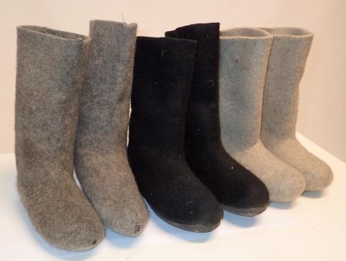 Felt boots, surplus