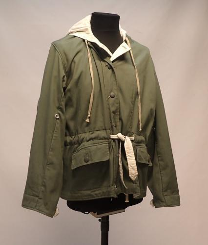 Wehrmacht reversible winter jacket, green/white, repro, surplus, Medium