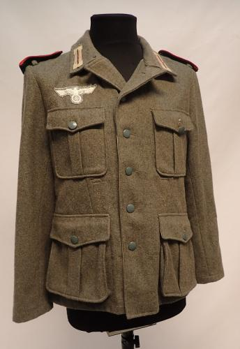 Wehrmacht wool tunic, artillery, repro, surplus, Small