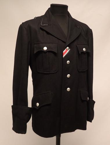SS officer's wool tunic, repro,surplus X-Large